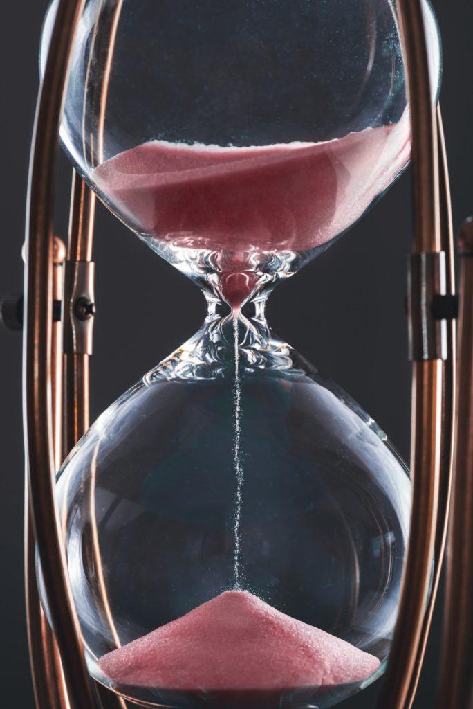 Hourglass Clock Is Ticking